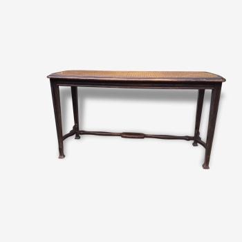 banc bois mat riau bon tat classique 32799. Black Bedroom Furniture Sets. Home Design Ideas