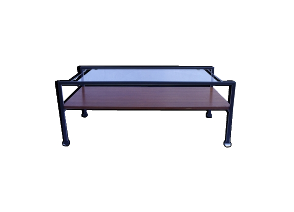 table bois plateaux verre. Black Bedroom Furniture Sets. Home Design Ideas