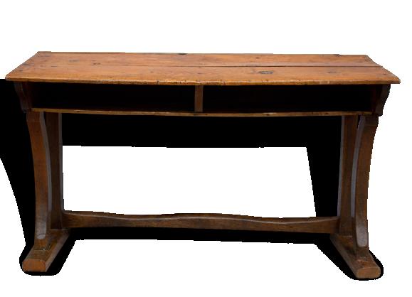 Ancien pupitre d colier 2 places bois mat riau for Bureau ecolier ancien 2 places