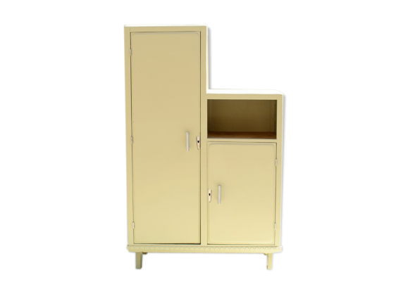armoire asym trique ann es 50 bois mat riau vert bon tat vintage. Black Bedroom Furniture Sets. Home Design Ideas