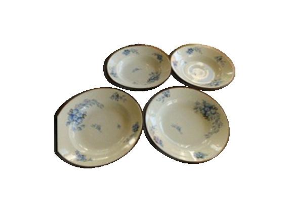 Assiettes creuses en porcelaine BH