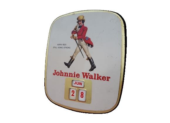 Plaque émaillée Johnnie Walker publicité vintage années 50/60