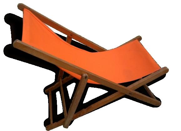 Chaise longue orange tr s vintage le fait main for Meilleure chaise longue