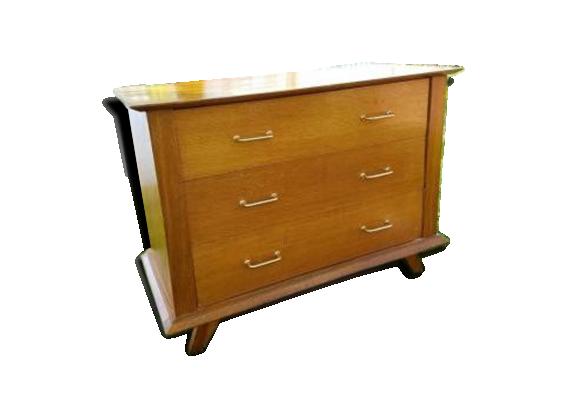 commode vintage ann es 50 bois mat riau marron bon tat vintage. Black Bedroom Furniture Sets. Home Design Ideas