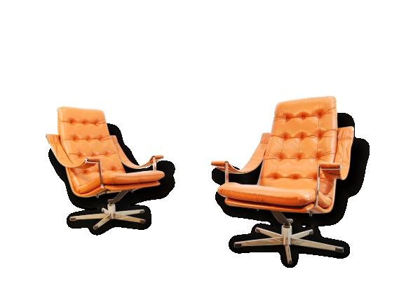 Lounge Chairs & Ottoman / Geoffrey Harcourt / Artifort, 1960s