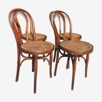 Série de 4 chaises bistrot Cambier