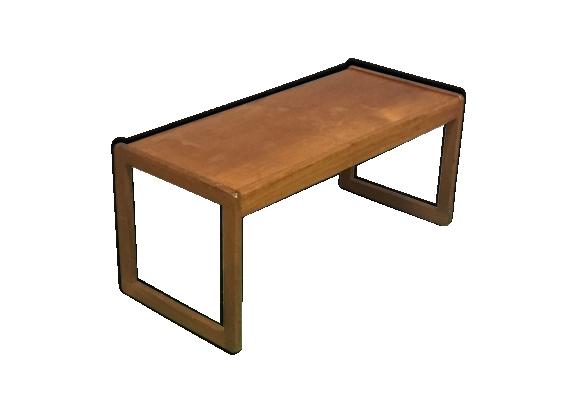 Table basse style scandinave en teck des années 70