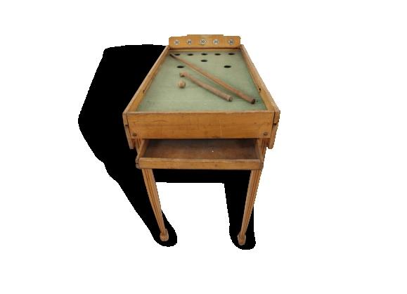 Vieux jeu de billard en bois pour enfant