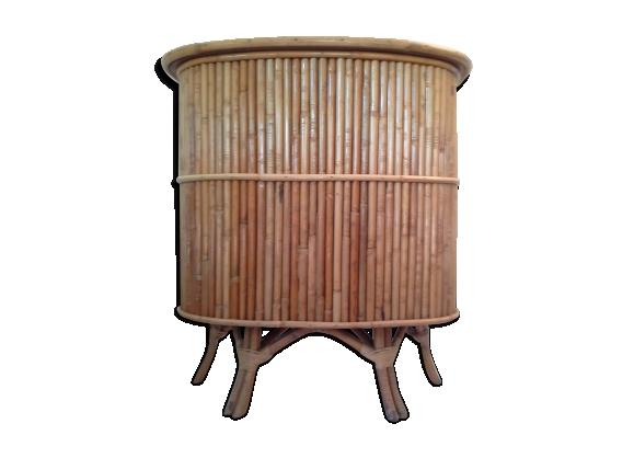 Bar vintage en bambou années 50 60