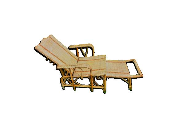 chaise longue en rotin rotin et osier bois couleur. Black Bedroom Furniture Sets. Home Design Ideas