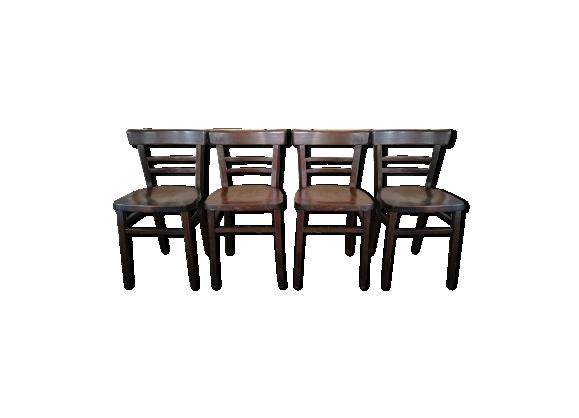 4 chaises bistros