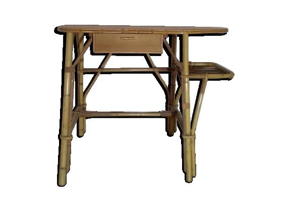Bureau et chaise osier rotin vintage design xx éme style colonial