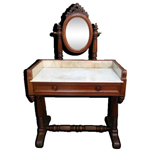 coiffeuse louis philippe en acajou bois mat riau bois couleur bon tat classique. Black Bedroom Furniture Sets. Home Design Ideas