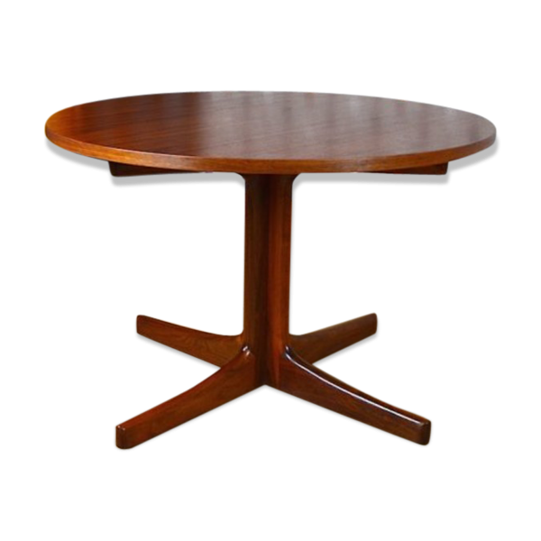 Table basse ronde design scandinave en teck vintage 1960 teck marron bo - Table ronde design scandinave ...