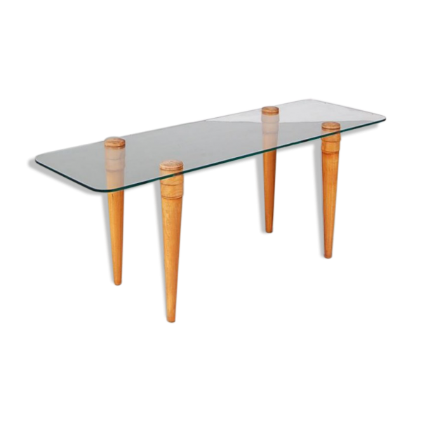 Table basse en verre transparent - Table basse en plexi ...