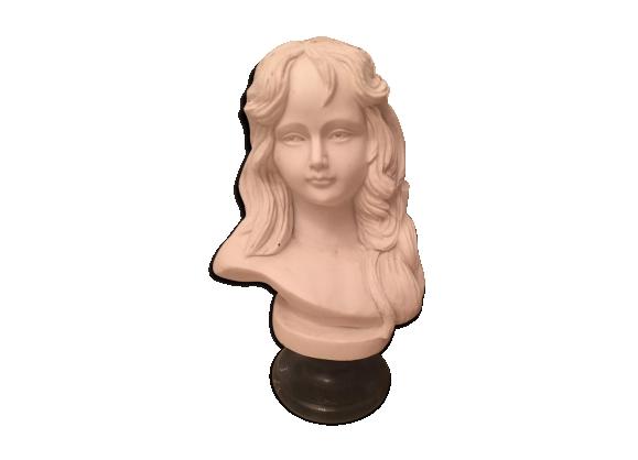 Buste de fillette en marbre avec socle marbre