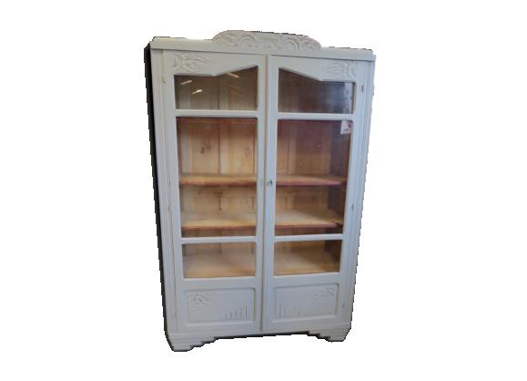 biblioth que grise cole bois mat riau gris bon. Black Bedroom Furniture Sets. Home Design Ideas