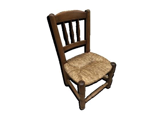 chaise paille bois. Black Bedroom Furniture Sets. Home Design Ideas