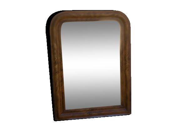 Miroir louis philippe 93 x 66 cm bois mat riau for Miroir louis philippe prix