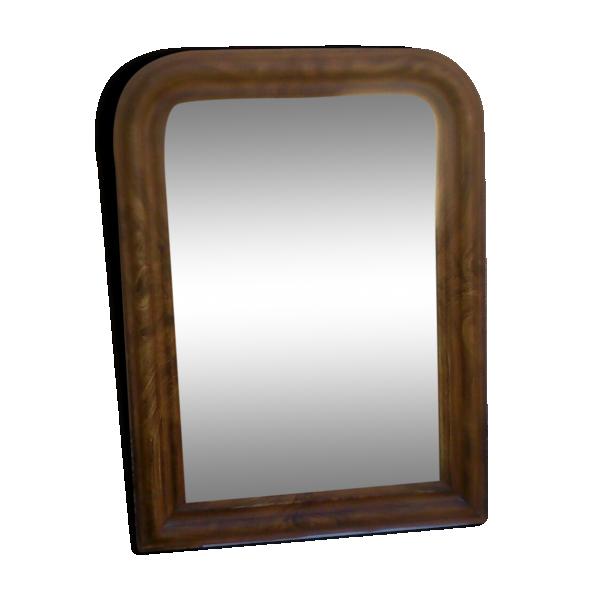 Miroir louis philippe 93 x 66 cm bois mat riau for Miroir louis philippe