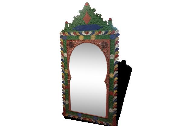 sublime miroir orientale tres grand dans son jus fin 19eme. Black Bedroom Furniture Sets. Home Design Ideas
