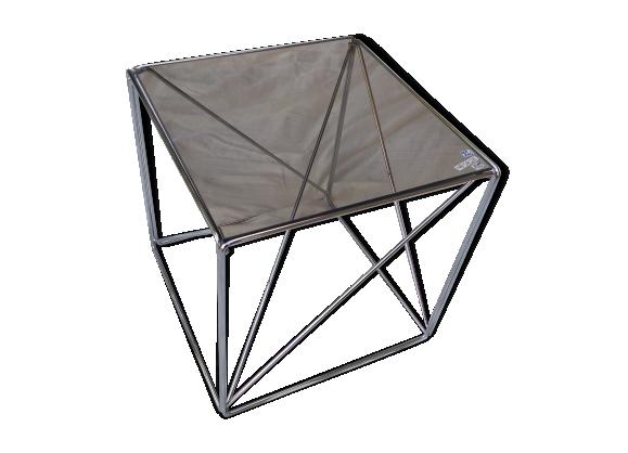 Table basse Max Sauze fil acier modèle '' isocèle)