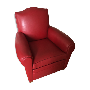 fauteuil chauffeuse rouge vintage d 39 occasion. Black Bedroom Furniture Sets. Home Design Ideas