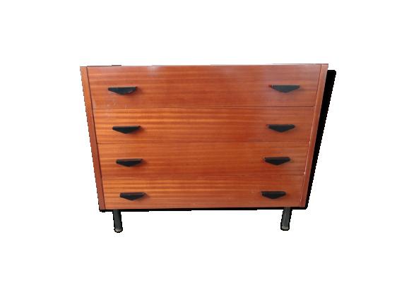 commode coiffeuse bois mat riau bois couleur bon tat design. Black Bedroom Furniture Sets. Home Design Ideas