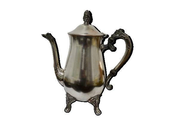 Cafetière en métal argenté