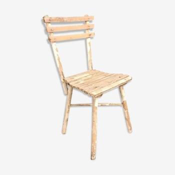 Chaise design industrielle scandinave vintage d 39 occasion - Chaises en bois blanc ...