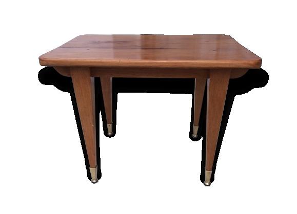 Table basse bois chêne clair année 60