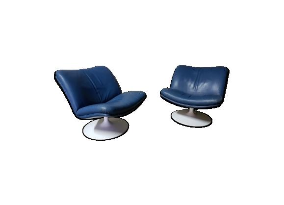 Paire de fauteuils F504 par Harcourt édition Artifort design