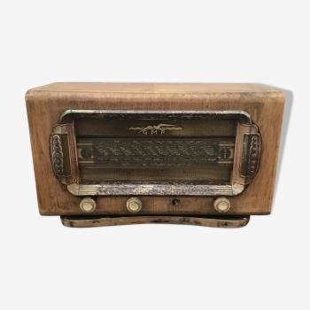 Ancienne poste de radio GMR métal en bois année 30