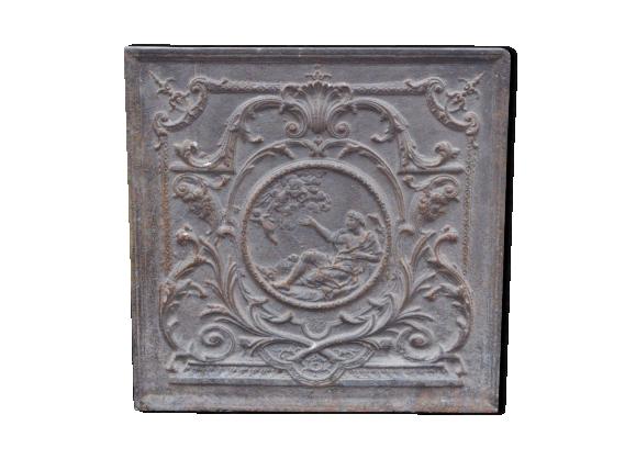 Plaque de chemin e en fonte fonte noir bon tat - Plaque de cheminee en fonte le bon coin ...