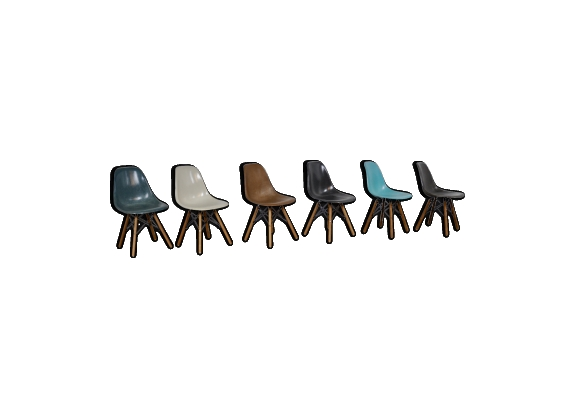 Chaises DSW par Charles & Ray Eames pour Herman Miller 1970