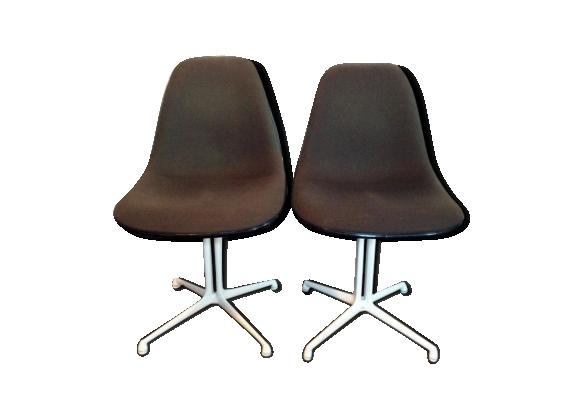 Paire chaises DSL La Fonda par Charles et Ray Eames pour Ermann Miller 1970