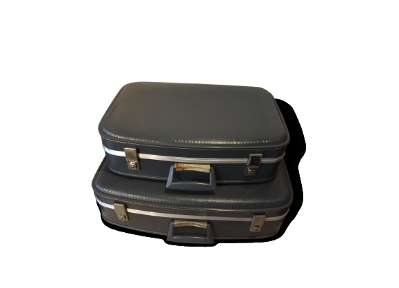 Anciennes valises vintage hôtesses de l'air