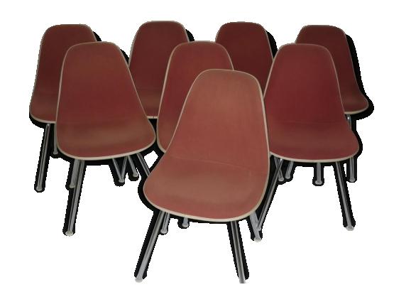 'Suite de 8 chaises Charles et Ray EAMES Edition Herman Miller DSX'