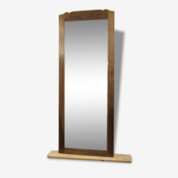 Miroir art d co fer marron bon tat art d co for Miroir etroit