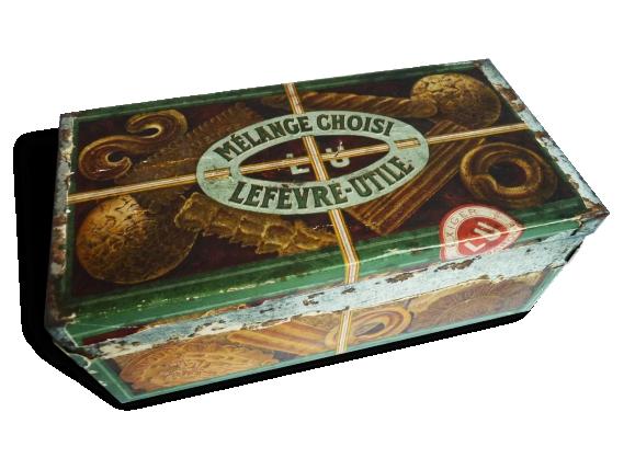 Ancienne boite en métal biscuits LU