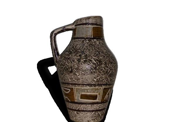 Joli vase design et vintage, en céramique émaillée.