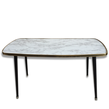 table basse rectangulaire en m tal dor ann es 70 fer dor dans son jus vintage. Black Bedroom Furniture Sets. Home Design Ideas