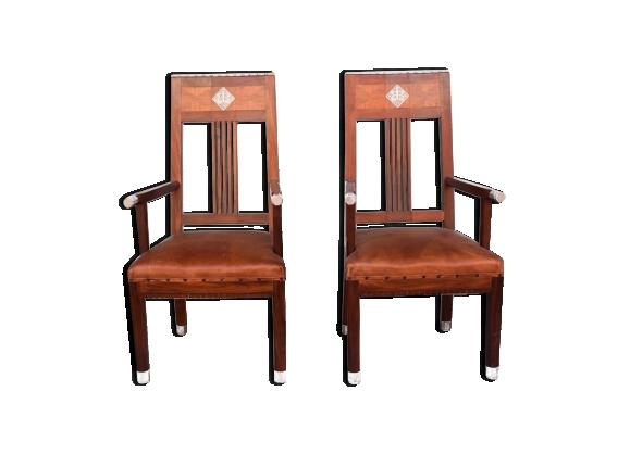 Paire de fauteuil art déco 1930 palissandre