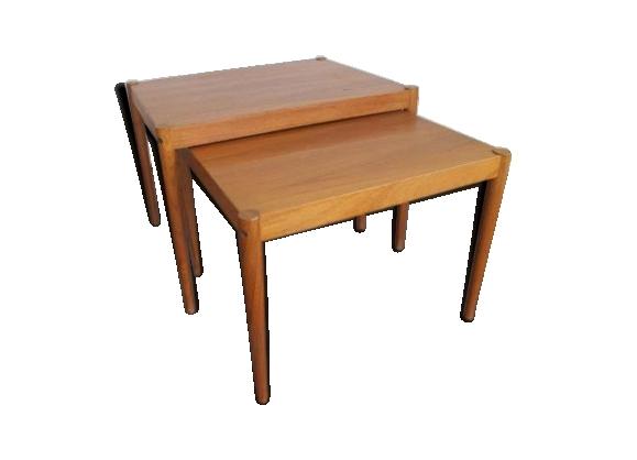 tables gigognes vintage en teck danemark 1950s - Table Gigogne Vintage