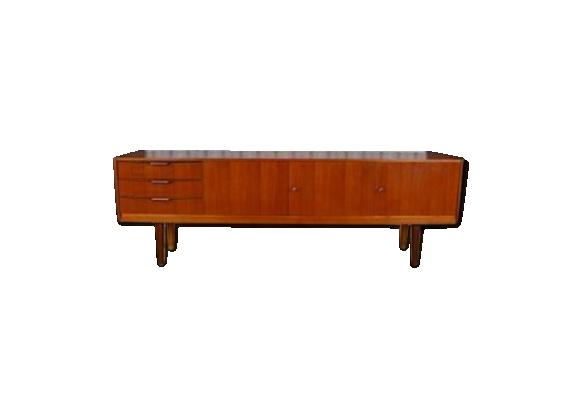 enfilade design scandinave en teck vintage 1965 teck bois couleur bon tat scandinave. Black Bedroom Furniture Sets. Home Design Ideas