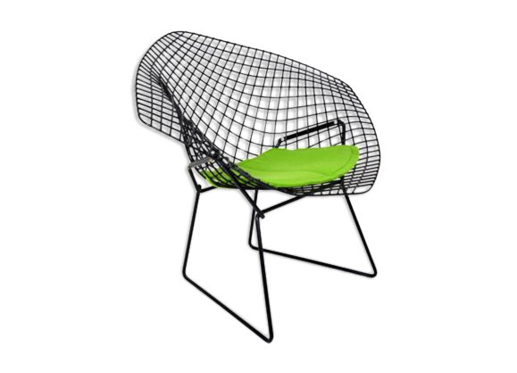 fauteuil diamant harry bertoia m tal vert bon tat design 7059ab6e35d73004903b752aee1d31d9. Black Bedroom Furniture Sets. Home Design Ideas