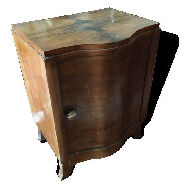 table de chevet bout canap vintage art d co 30 s bois mat riau bois couleur bon. Black Bedroom Furniture Sets. Home Design Ideas