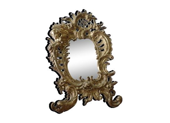 Miroir baroque en bronze