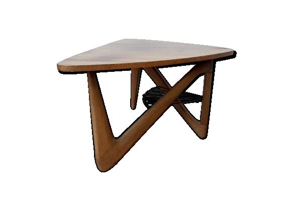 Table basse vintage design par Louis Sognot style scandinave