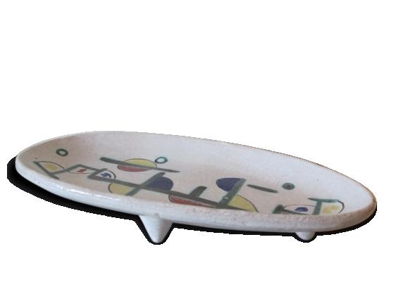 Plat ovale en céramique motifs abstrait